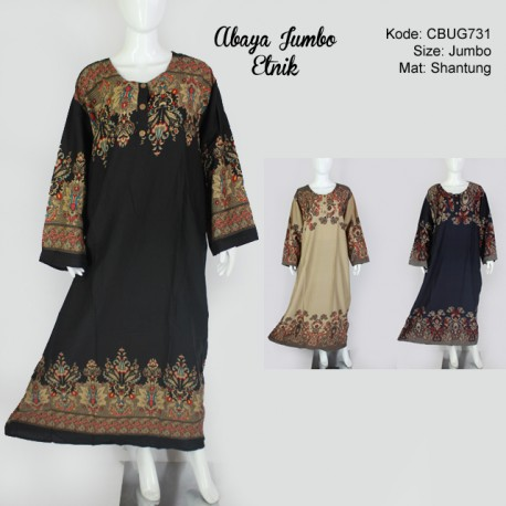 Abaya Jumbo Etnik Klasik
