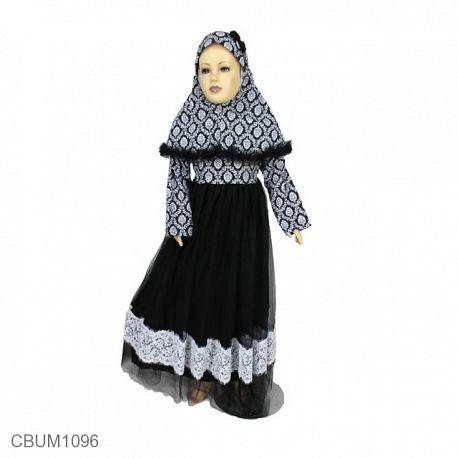 Allizberry Baju Gamis Muslim Tutu Anak Malika Size 8