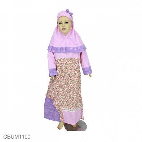 Allizberry Baju Gamis Muslim Anak Pumkin Size 1