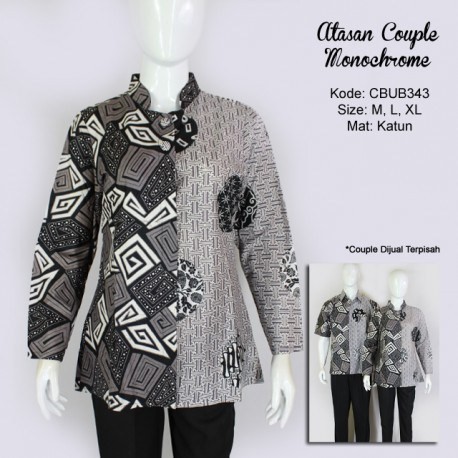 Atasan Batik Couple Monochrome