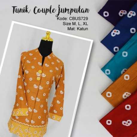 Atasan Tunik Couple Jumputan