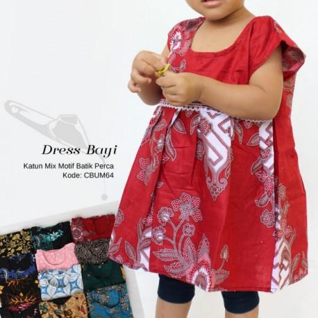Baju Balita Dress Batik Alita Mix Motif