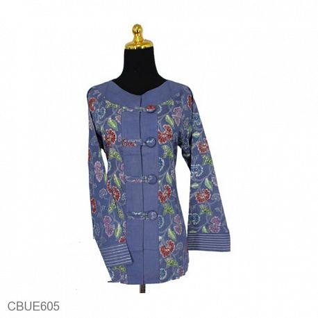 Baju Batik Aida Motif Warna Warni Bunga