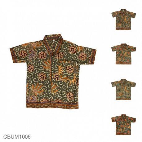 Baju Batik Anak Kemeja Motif Wadas Tumpal Size M