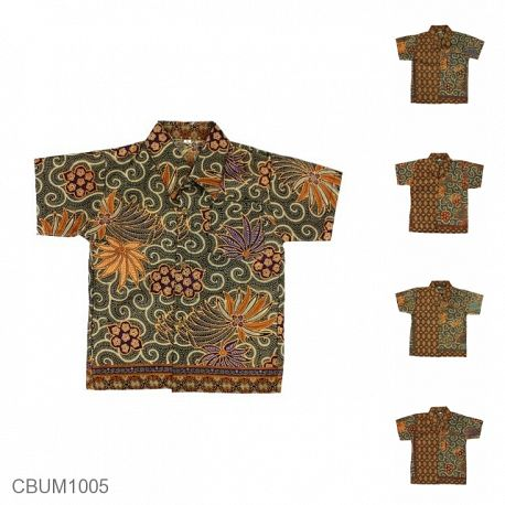 Baju Batik Anak Kemeja Motif Wadas Tumpal Size S