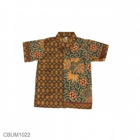 Baju Batik Anak Kemeja Motif Wadas Tumpal Size L