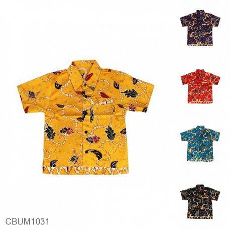 Baju Batik Anak Kemeja Motif Ratan Tumpal (3-4Th)