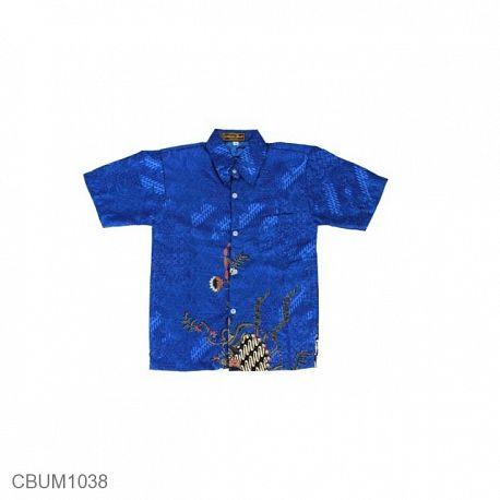 Baju Batik Anak Kemeja Motif Kotemporer