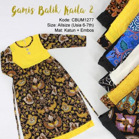 Baju Batik Anak Gamis Abstrak