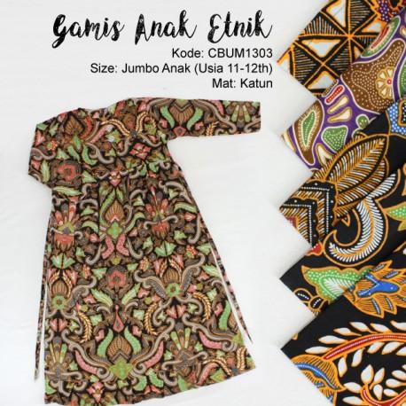 Baju Batik Anak Gamis Abstrak Jumbo