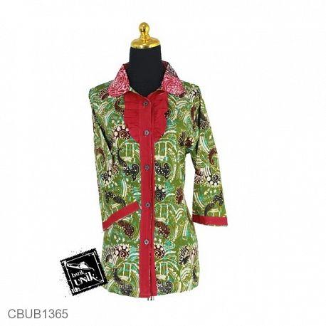 Baju Batik Blus Tanggung Motif Isi Abstrak
