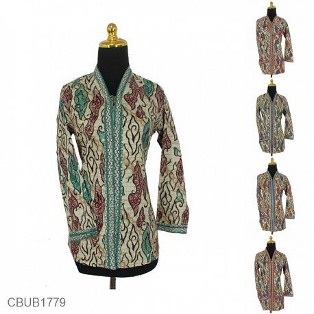 Baju Batik Blus Panjang Motif Mega Mendung Warna