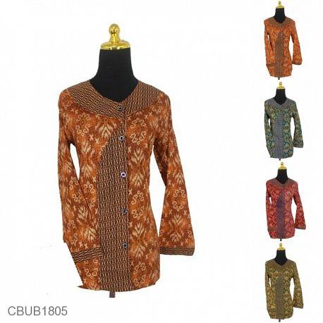 Baju Batik Blus Panjang Yesy Motif Asmad Warna