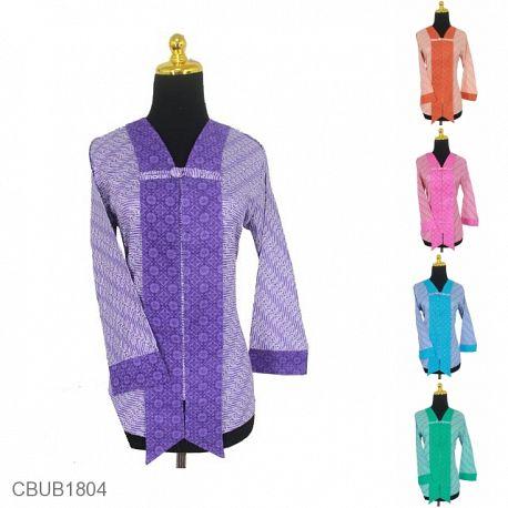 Baju Batik Blus Panjang Motif Parang Kembar