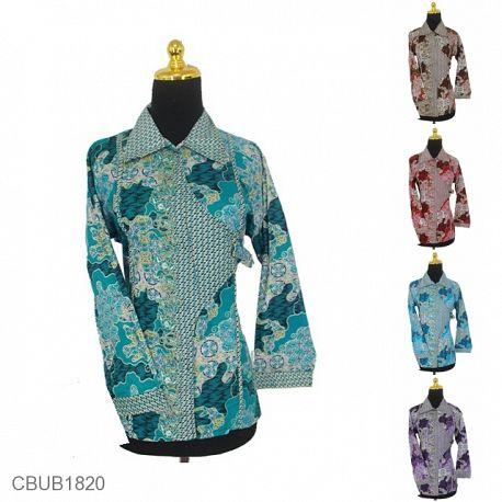 Baju Batik Blus Panjang Pekalongan Motif Sekar Jagad Warna