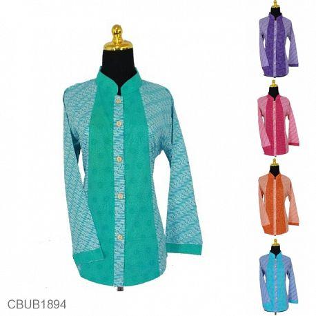 Baju Batik Blus Panjang Motif Parang Cungkil