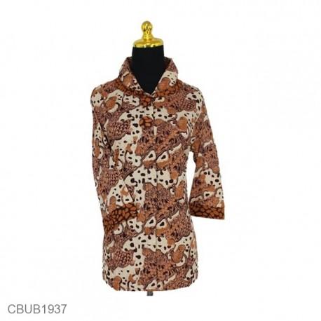 Baju Batik Blus Tanggung Motif Enceng Gondok
