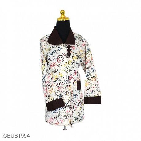 Baju Batik Blus Panjang Motif Godhong Warna