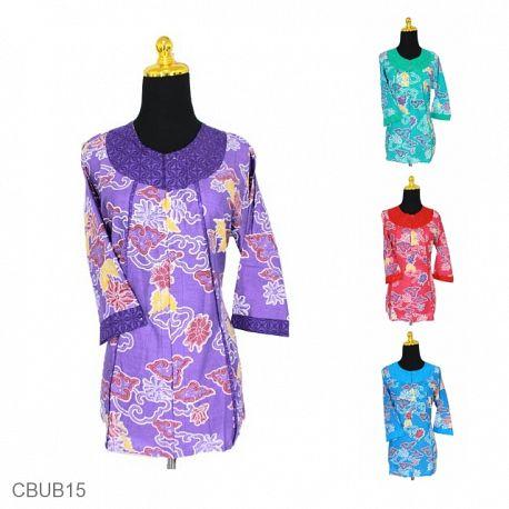 Baju Batik Blus Tanggung Motif Kembang Mega