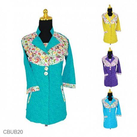 Baju Batik Blus Tanggung Katun Motif Uceng Sayap