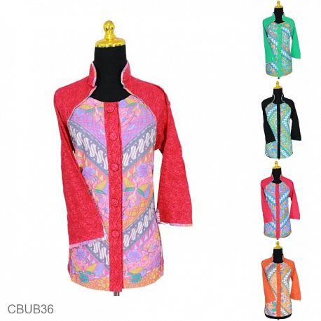 Baju Batik Blus Tanggung Motif Sinaran Parang