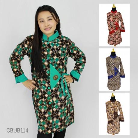 Baju Batik Blus Panjang Abstrak