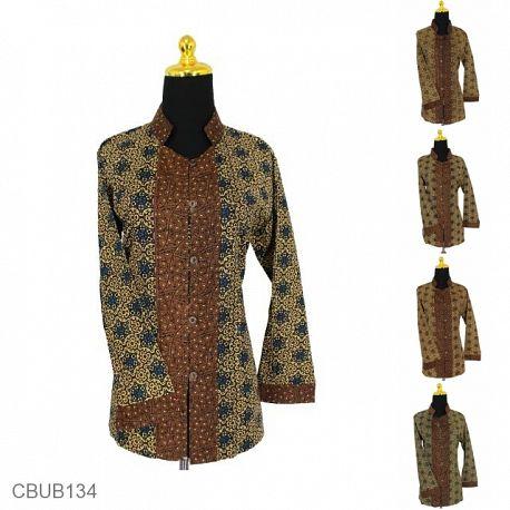 Baju Batik Blus Panjang Motif Capocino