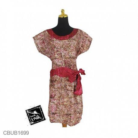 Baju Batik Dress Pekalongan Motif Kotemporer Cucuk