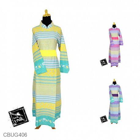 Baju Batik Gamis Kamila Motif Kembangan Soft