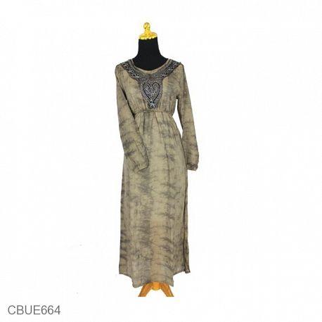 Baju Batik Gamis Motif Celup Jumput