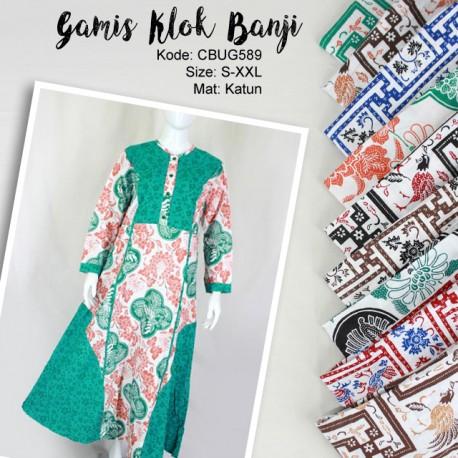 Baju Batik Gamis Motif Banji