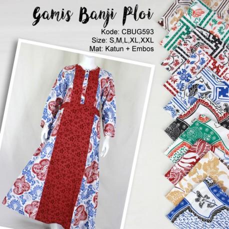 Baju Batik Gamis Ploi Motif Banji