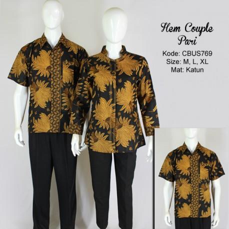 Baju Batik Hem Couple Pari