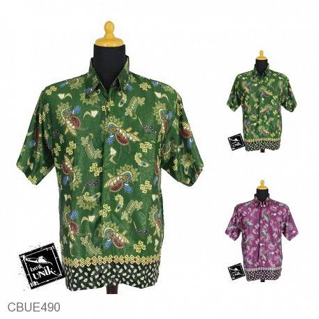 Baju Batik Kemeja Ekslusive Motif Kipas Kwali Tumpal