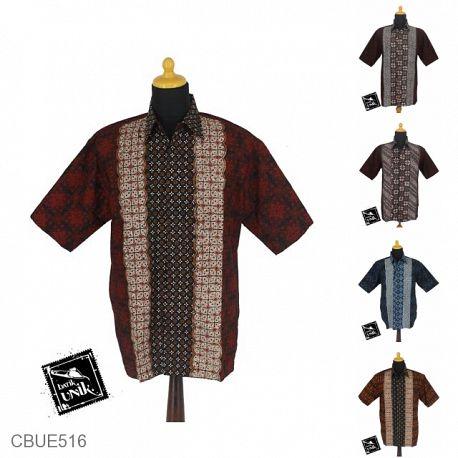Baju Batik Kemeja SBY Motif Ceplok Tumpal Teruntum