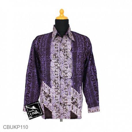 Baju Batik Kemeja Panjang Pekalongan Motif Liris