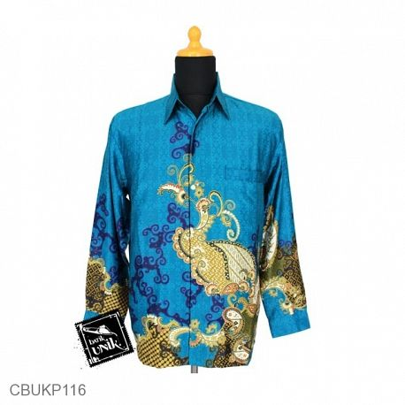 Baju Batik Kemeja Panjang Basuki Motif Wadas Pola