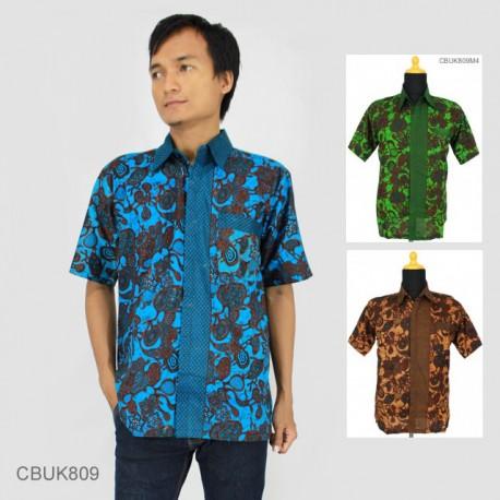 Baju Batik Kemeja Katun Motif Jantung Warna