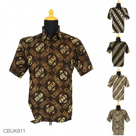 Baju Batik Kemeja Katun Motif Batangan