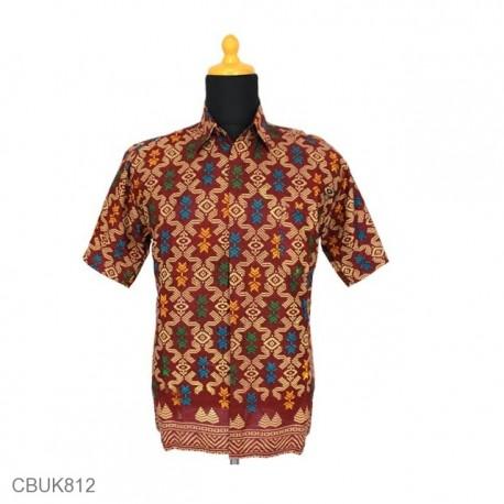 Baju Batik Kemeja Katun Motif Songket Tumpal