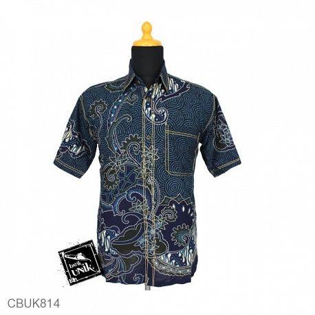 Baju Batik Kemeja Motif Bombai Iris