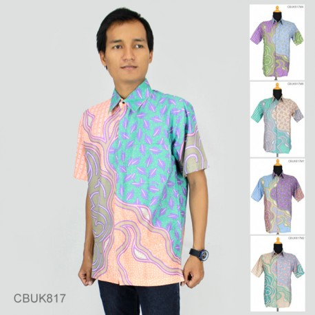 Baju Batik Kemeja Soft Motif Daun Alur