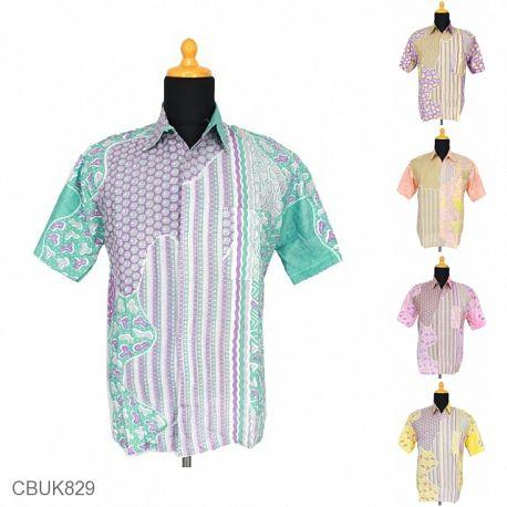 Baju Batik Kemeja Motif Gelombang Alur