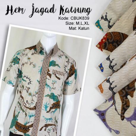 Baju Batik Kemeja Motif Jagad Kawung