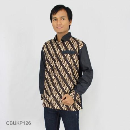 Baju Batik Kemeja Panjang Motif Parang