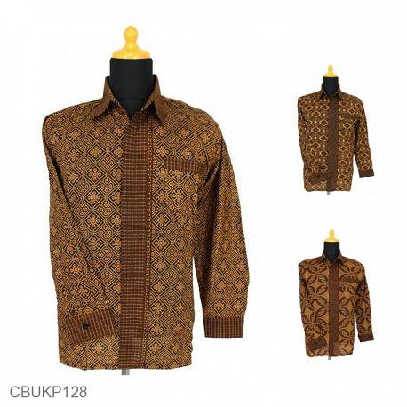 Baju Batik Kemeja Panjang Motif Capocino