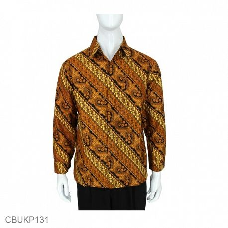 Baju Batik Kemeja Panjang Motif Mataram Parang