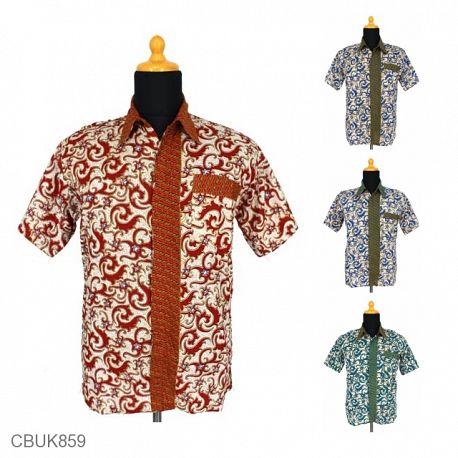 Baju Batik Kemeja Pekalongan Motif Abstrak