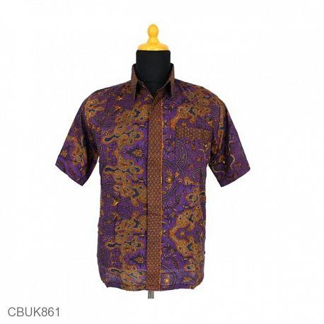 Baju Batik Kemeja Katun Motif Wadas Tumpal