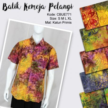 Baju Batik Kemeja Motif Pelangi